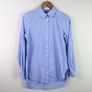 Calvin Klein Women's Tunic XS Shirt Striped Button